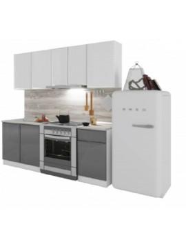 Σύνθεση Κουζίνας μήκος 2.60μ ύψος 2,17μ βάθος 0,60μ, Glantz 260 Genomax  12814-32382656567