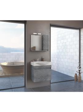 Drop Senso 65/PL Granite Έπιπλο Μπάνιου Κρεμαστό 62cm Πλήρες Σετ