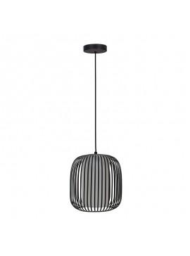 Κρεμαστό μεταλλικό φωτιστικό οροφής PWL-0030 pakoworld σε μαύρο χρώμα Φ26x27εκ 009-000073
