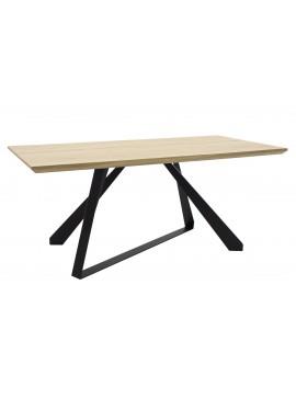 Τραπέζι Soho pakoworld επιφάνεια MDF χρώμα sonoma-πόδι μεταλλικό μαύρο 180x90x75εκ 011-000022