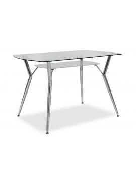 Τραπέζι Jacob pakoworld ορθογώνιο με γυάλινη επιφάνεια 120x75x75εκ 029-000031
