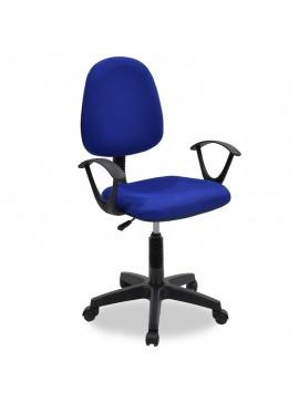 Καρέκλα γραφείου εργασίας Maria pakoworld με ύφασμα mesh χρώμα μπλε 034-000013