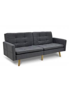 Καναπές-κρεβάτι Flexible pakoworld σε ανθρακί ύφασμα 198x87x76εκ 035-000004