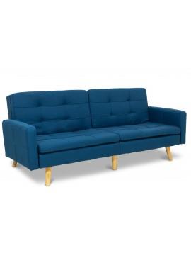 Καναπές-κρεβάτι Flexible pakoworld με μπλε ύφασμα 198x87x76εκ 035-000011