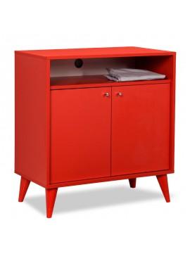 Έπιπλο TV-Ντουλάπι-Παπουτσοθήκη 6 ζεύγων London pakoworld κόκκινο 72x40x79εκ 039-000002