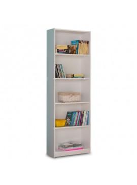 Βιβλιοθήκη Max pakoworld σε λευκό χρώμα 58x23x170εκ 039-000015