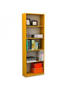 Βιβλιοθήκη Max σε κίτρινο χρώμα 58x23x170εκ 039-000021