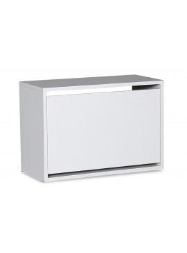 Παπουτσοθήκη ανακλινόμενη Step 6 ζεύγων pakoworld σε χρώμα λευκό 60x30x42εκ 039-000056