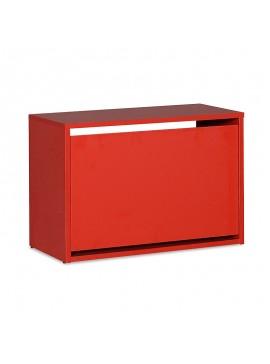 Παπουτσοθήκη ανακλινόμενη Step 6 ζεύγων pakoworld σε χρώμα κόκκινο 60x30x42εκ 039-000058