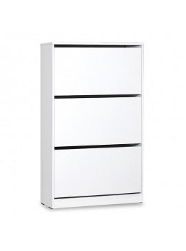 Παπουτσοθήκη ανακλινόμενη Step 18 ζεύγων pakoworld σε χρώμα λευκό 73x26x119εκ 039-000068