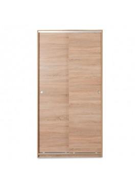 Ντουλάπα ρούχων Slide pakoworld δίφυλλη με συρόμενες πόρτες χρώμα sonoma 94x52x182εκ 039-000074