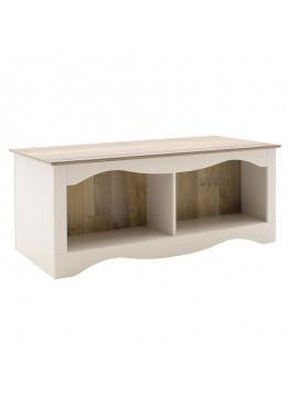 Τραπέζι σαλονιού Loran pakoworld χρώμα antique pallet-λευκό 110,5x55x46εκ 044-000018
