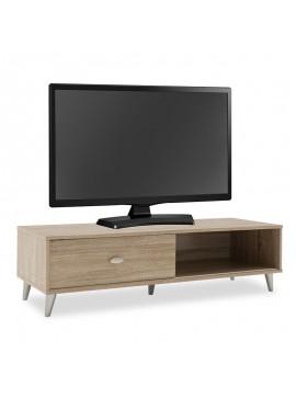 Έπιπλο τηλεόρασης FIRENZE pakoworld χρώμα sonoma 120,5x41x33εκ 049-000044