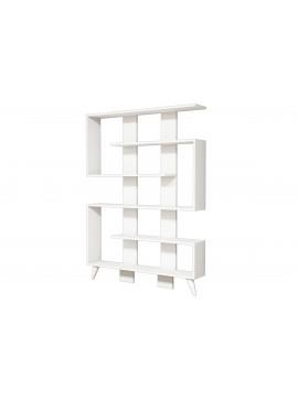 Βιβλιοθήκη Jane pakoworld χρώμα λευκό 120x22x164 055-000130