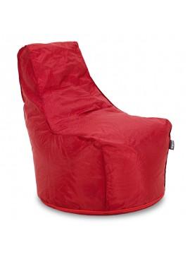 Πουφ πολυθρόνα Bolt pakoworld επαγγελματική με κόκκινο αποσπώμενο 100% αδιάβροχο κάλυμμα 056-000063