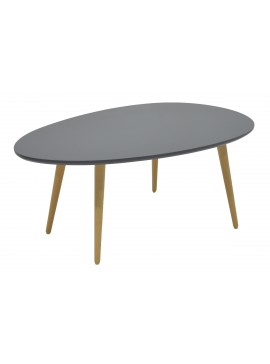 Τραπέζι σαλονιού HAMILTON pakoworld χρώμα ανθρακί φυσικό 98x60x38εκ 058-000008