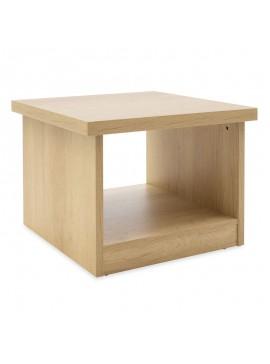 Τραπέζι γραφείου επισκέπτη Amazon pakoworld χρώμα sonoma 60x60x45εκ 069-000045
