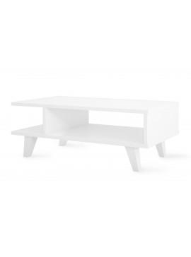 Τραπέζι σαλονιού PWF-0067 pakoworld χρώμα λευκό 80x45x30εκ 071-000151