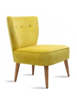 Πολυθρόνα PWF-0072 pakoworld με ύφασμα χρώμα κιτρινο 65x52x80εκ 071-000170