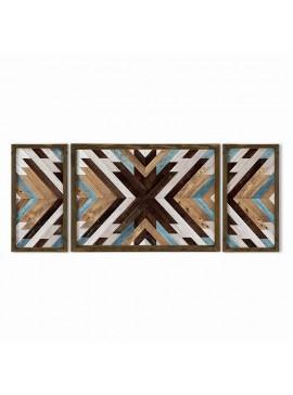 Πίνακας σε mdf PWF-0221 pakoworld με ξύλινο πλαίσιο-ψηφιακή εκτύπωση 3πτυχο 071-000552