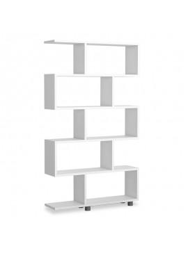 Βιβλιοθήκη PWF-0233 pakoworld χρώμα λευκό 90x20x156εκ 071-000578