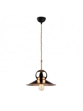 Φωτιστικό οροφής PWL-0079 pakoworld χρώμα χάλκινο-μαύρο Φ31x126εκ 071-000708