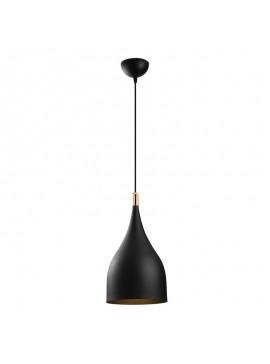 Φωτιστικό οροφής PWL-0083 pakoworld χρώμα μαύρο-χρυσό Φ25x137εκ 071-000712