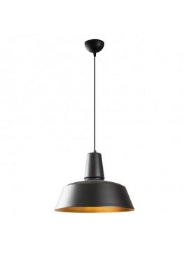 Φωτιστικό οροφής PWL-0075 pakoworld χρώμα μαύρο-χρυσό Φ40x127εκ 071-000714