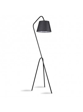Μεταλλικό φωτιστικό δαπέδου PWL-0123 pakoworld E27 χρώμα μαύρο  30x50x165εκ 071-000836