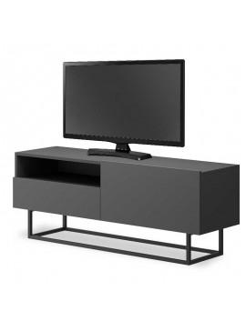 Έπιπλο τηλεόρασης Enjoy pakoworld χρώμα ανθρακί 120x37x47εκ 081-000023