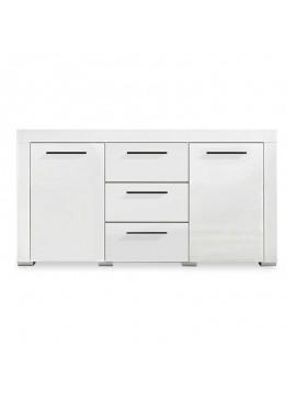 Μπουφές Avio pakoworld με 3 συρτάρια χρώμα λευκό gloss 160x40x85εκ 082-000005