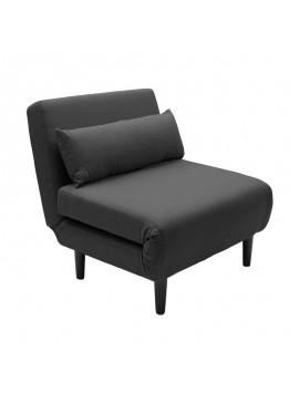 Πολυθρόνα - κρεβάτι Zoro με ύφασμα ανθρακί 90x94x85εκ 092-000001