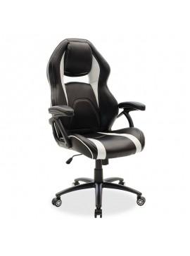 Καρέκλα γραφείου Schumacher gaming pakoworld pu μαύρο-λευκό 095-000006