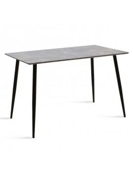 Τραπέζι Cuba pakoworld MDF χρώμα γκρι cement 120x80x76εκ 096-000005