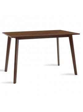 Τραπέζι Benson pakoworld MDF με καπλαμά  χρώμα καρυδί 120x75x75εκ 097-000003
