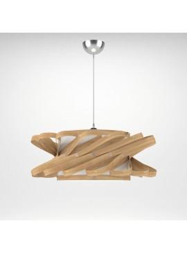 Φωτιστικό Κρεμαστό Majorka MED LIGHT Καφέ Φυσικό 1 Λάμπα Τύπου Ε27 LED 58*58*100 MED-10242