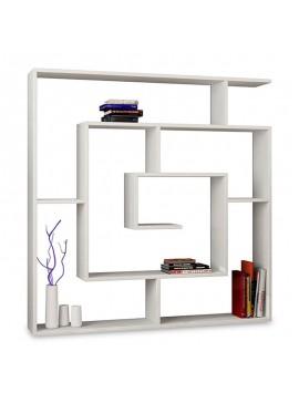 Βιβλιοθήκη Labirent pakoworld χρώμα λευκό 125x22x129εκ 119-000037