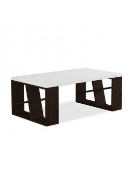 Τραπέζι σαλονιού Honey pakoworld χρώμα λευκό - wenge 105x60x40εκ 119-000047