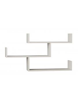 Ραφιέρα τοίχου Tiber pakoworld χρώμα λευκό 120x22x67εκ 119-000896