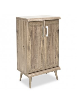 Παπουτσοθήκη-ντουλάπι RICARDO pakoworld 10 ζεύγων χρώμα Safari Oak 60x37x105εκ 123-000033
