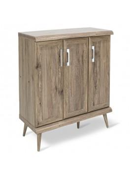 Παπουτσοθήκη-ντουλάπι RICARDO pakoworld 16 ζεύγων χρώμα Safari Oak 90,5x37x105εκ 123-000034
