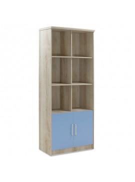 Βιβλιοθήκη παιδική σύνθετη Looney pakoworld χρώμα castillo-μπλε 80,5x36,5x183,5εκ 123-000082