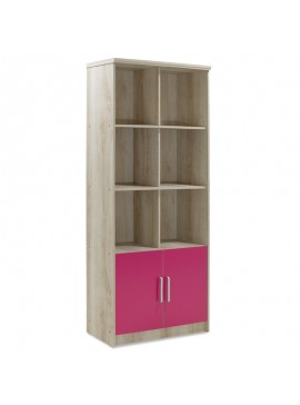 Βιβλιοθήκη παιδική σύνθετη Looney pakoworld χρώμα castillo-ροζ 80,5x36,5x183,5εκ 123-000083