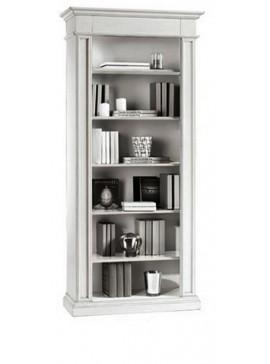 Ιταλικό έπιπλο   Βιβλιοθήκη Art. 1415  EPL04998   94x40x205 εκ.Χρώμα Λευκό