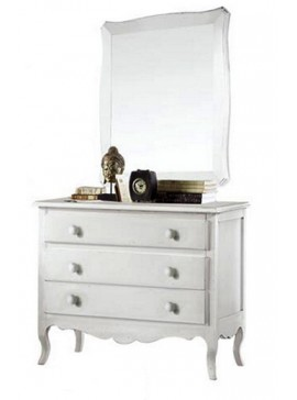 Ιταλικό έπιπλο   Συρταριέρα Art. 1305  EPL04991   107x52x89 εκ.Χρώμα Λευκό