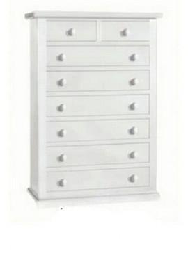 Ιταλικό έπιπλο   Συρταριέρα Art. 1523  EPL05081   87x45x127 εκ.Χρώμα Λευκό
