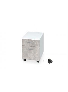 Συρταριέρα γραφείου με συρτάρι/ντουλάπι και ροδάκια για Buro, Genomax  12814-19927