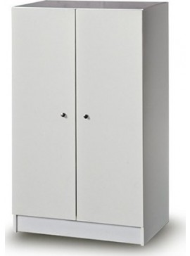 Iris Kirki Δίφυλλη ντουλάπα  χρώματος  λευκού 72x45x120cm 3190200