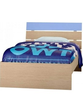 """Παιδικό κρεβάτι """"ΝΟΤΑ""""  no Γ52 ημίδιπλο σε χρώμα δρύς-σιέλ 110x190"""