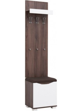 """Έπιπλο εισόδου """"APOLON PA-2"""" σε χρώμα tobacco-λευκό 50x37x209 102314"""